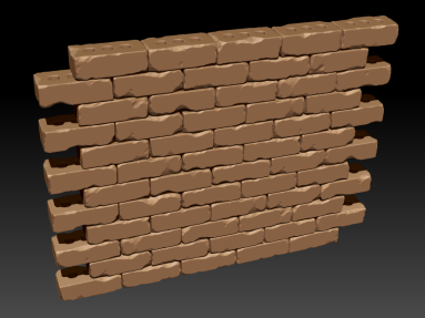Zbrush brick wall sculpt