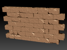 Zbrush cinder block wall sculpt