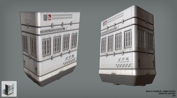 Futuristic Container (3dsMax, Marmoset Toolbag, 2014)