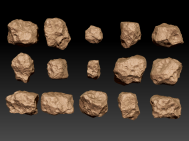 Zbrush igneous rocks sculpt