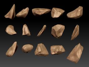 Zbrush rock shards sculpt